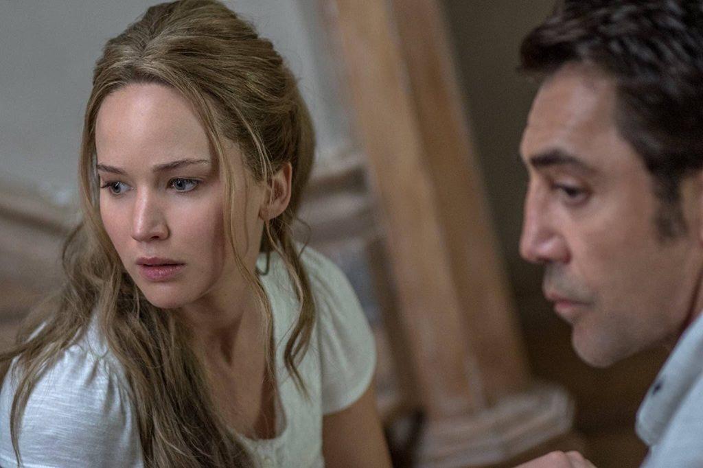 Jennifer Lawrence e Havier Barden em Mãe!